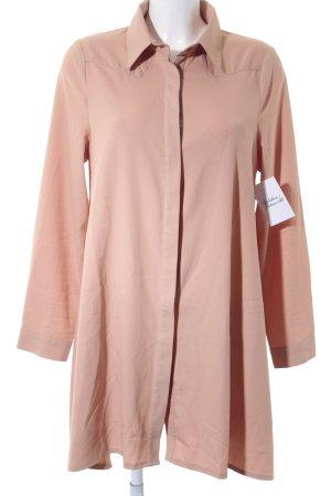 Glamorous Langarm-Bluse nude-beige schlichter Stil