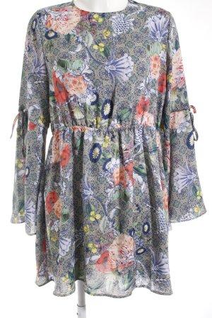 Glamorous Langarmkleid Blumenmuster Boho-Look