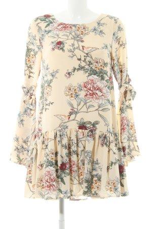 Glamorous Langarmkleid creme florales Muster Elegant