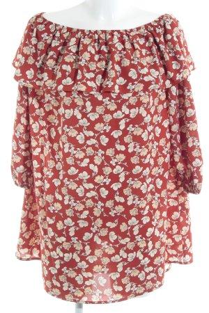 Glamorous Langarmkleid florales Muster 70ies-Stil