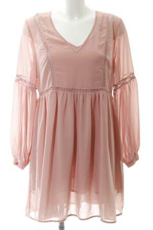Glamorous Langarmkleid rosé Elegant