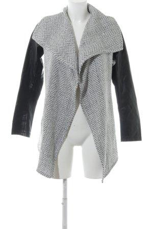 Glamorous Lange Jacke schwarz-wollweiß Business-Look