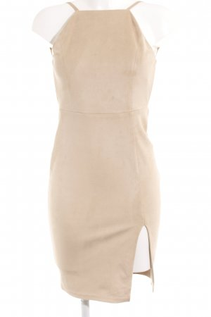 Glamorous Lederkleid beige Elegant