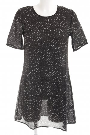 Glamorous Longshirt schwarz-weiß Punktemuster Casual-Look