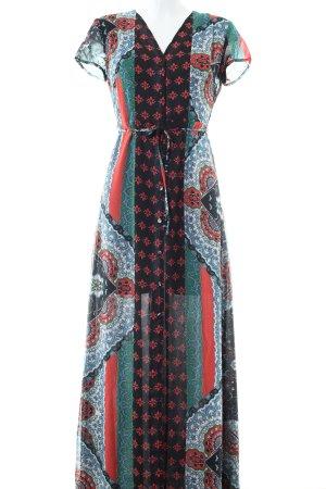 Glamorous Maxi-jurk abstract patroon elegant