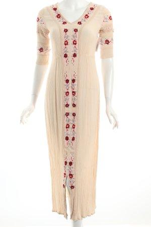 Glamorous Maxikleid creme Blumenmuster Romantik-Look