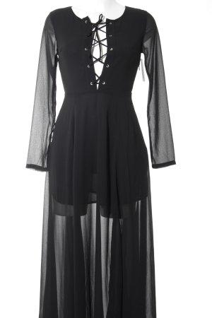 Glamorous Maxikleid schwarz Street-Fashion-Look