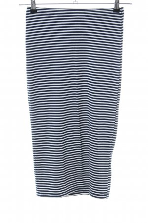 Glamorous Midi Skirt black-white striped pattern