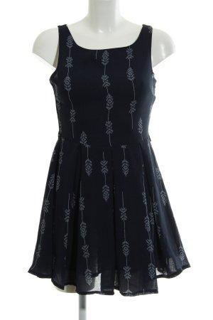Glamorous Minikleid dunkelblau-weiß Aztekenmuster Casual-Look