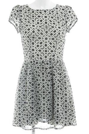 Glamorous Minikleid schwarz-creme abstraktes Muster klassischer Stil
