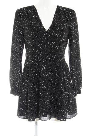 Glamorous Minikleid schwarz-weiß Punktemuster Casual-Look