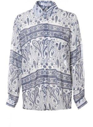 Glamorous Oversize Boyfriend Shirt Paisley Print