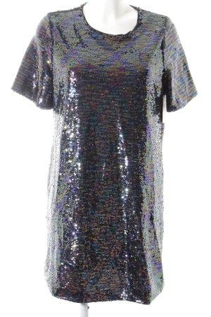 Glamorous Pailettenkleid dunkelviolett-petrol Glitzer-Optik