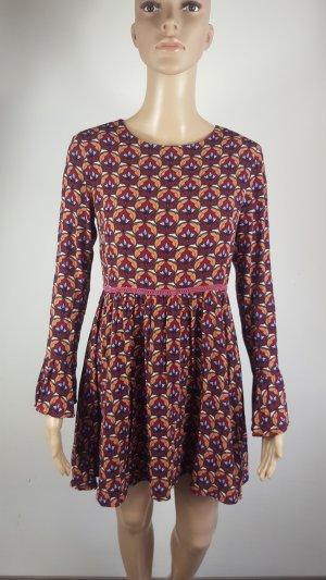 Glamorous Petite Damen Kleid Ethnokleid Hippie Blumenmuster Größe 38
