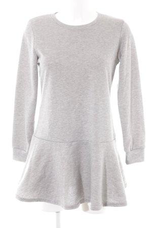 Glamorous Pulloverkleid hellgrau Webmuster Casual-Look