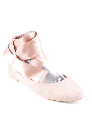 Glamorous Riemchen Ballerinas altrosa Romantik-Look