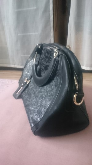Handtas zwart-goud Leer