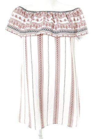 Glamorous schulterfreies Kleid abstraktes Muster Casual-Look