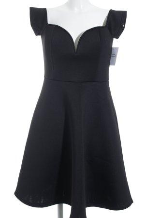 Glamorous schulterfreies Kleid schwarz Paris-Look