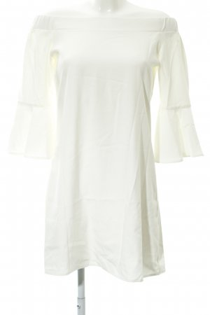 Glamorous schulterfreies Kleid wollweiß Elegant