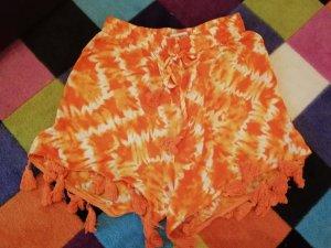Glamorous Shorts Hippie Batik Dip Dye Ethno Tassel Festival 10
