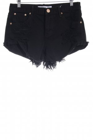 Glamorous Shorts schwarz Used-Optik