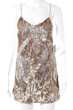 Glamorous Top con bretelline argento-oro con glitter
