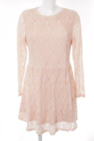 Glamorous Spitzenkleid nude florales Muster Romantik-Look
