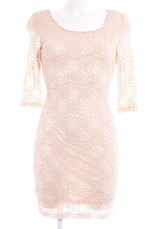 Glamorous Spitzenkleid nude Romantik-Look