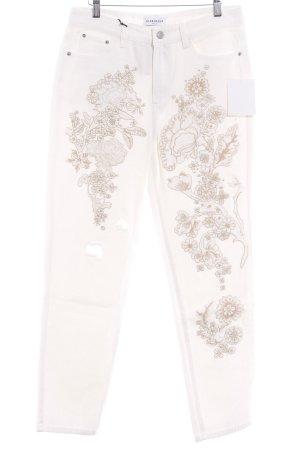 Glamorous Straight-Leg Jeans Blumenmuster schlichter Stil