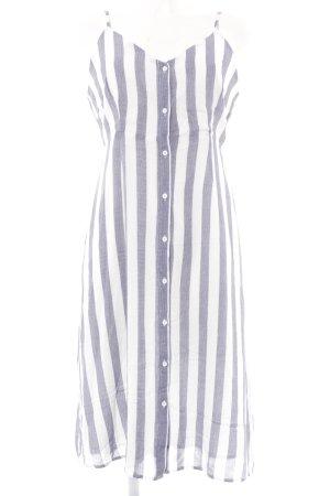 Glamorous Strandkleid weiß-graublau Streifenmuster Beach-Look