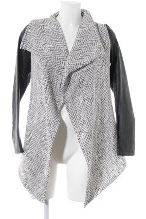 Glamorous Strick Cardigan schwarz-wollweiß Zackenmuster Casual-Look