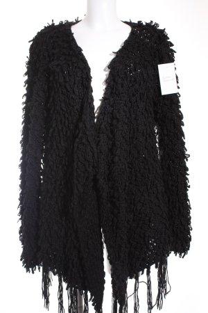 Glamorous Strickjacke schwarz extravaganter Stil