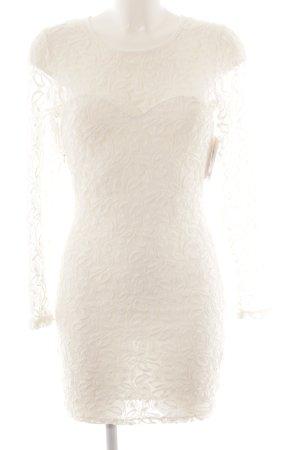 Glamorous Strickkleid wollweiß Elegant
