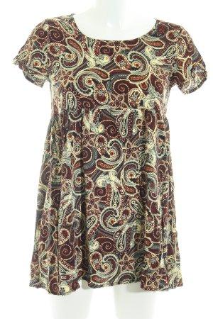 Glamorous T-Shirt braun-creme florales Muster Casual-Look