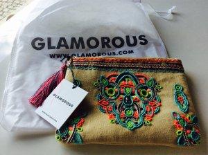 Glamorous Tasche Clutch Kosmetikbag Hippi Ibiza Strandtasche Neu mit Etikett