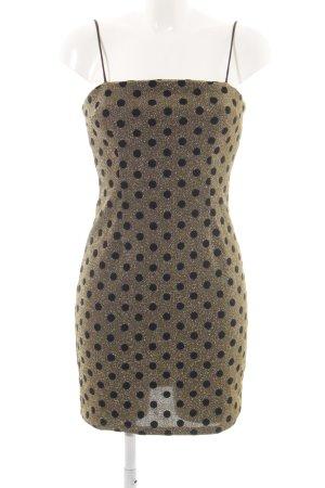 Glamorous Trägerkleid goldfarben-schwarz Punktemuster extravaganter Stil