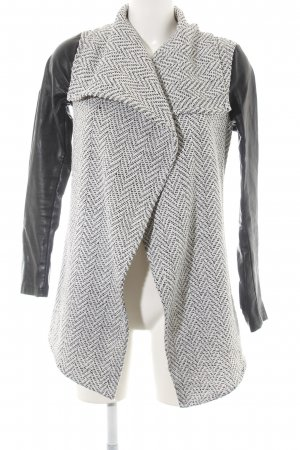 Glamorous Übergangsjacke weiß-schwarz meliert Casual-Look