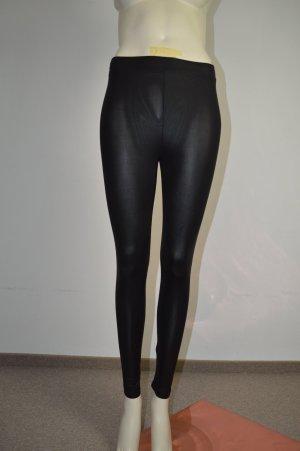 Glamorous zarte Lederoptik Leggins, Gr. S, schwarz