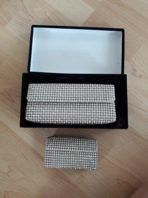Pochette blanc-argenté