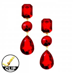 Earclip red-gold-colored