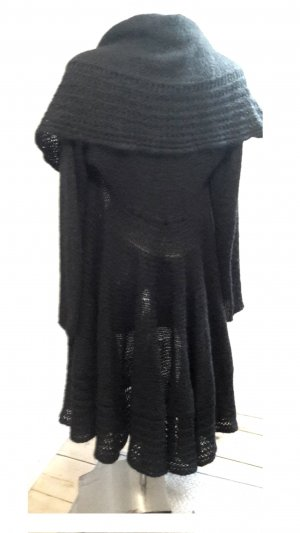 Rinascimento Knitted Coat black