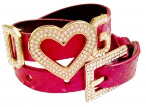*  Glamour   Pythonleder  Armband  *  Glücksbringer  *