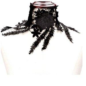 Collar negro lana de esquila