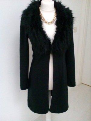 Glamouröse Jacke mit Fake Pelzkragen