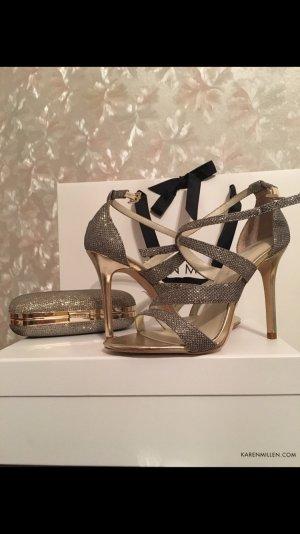 KAREN MILLEN Sandalen met bandjes goud