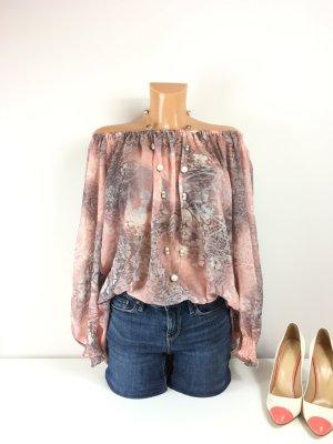 Glamourous Italian Style Open Shoulder Bluse Oberteil Gr. M/40