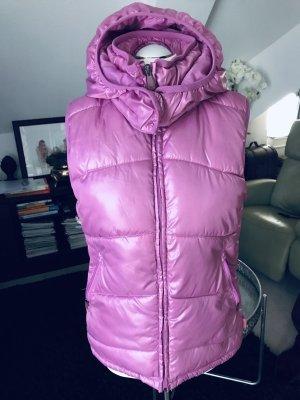 H&M Sport Chaleco con capucha rosa neón-rosa