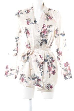 Blusa brillante estampado floral elegante