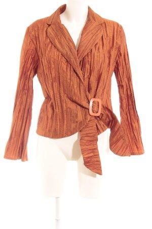 Blouse brillante orange foncé style mouillé